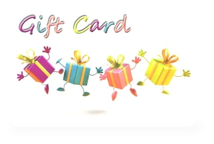 Easy to use gift cards